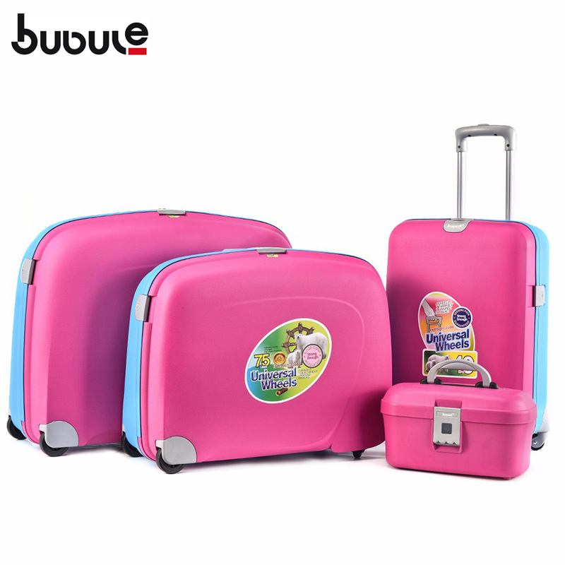 BUBULE Popular PP 4pcs Spinner Trolley Luggage Set Wheeled Suitcase for Travel