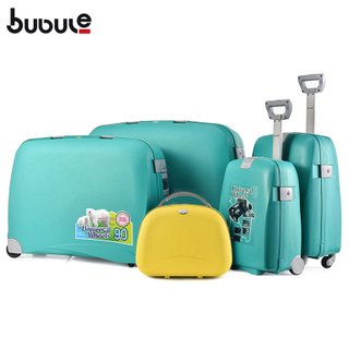 BUBULE Hot Sale 100% PP OEM Trolley Customized Travel Suitcase Wheeled Luggage Set