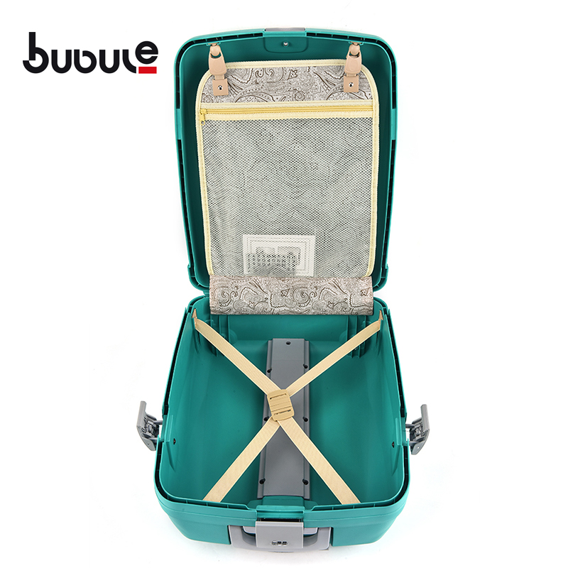 BUBULE 5PCS Cheap PP Travel Trolley Luggage Sets Spinner Wheeled Suitcases