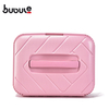 "BUBULE 14"" Wholesale Pink Fashion PP Cosmetic Box Makeup Case Bag with Lock"