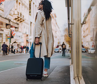 Choose a backpack or a suitcase when traveling