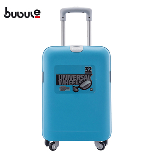 BUBULE 19'' Pp Luggage Trolley Plain Colour Wholesale Unique Design Trolley Luggage