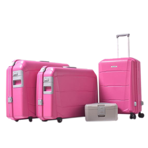 BUBULE 4pcs Classic Luggage Bag Set Carry on PP Travel Suitcases