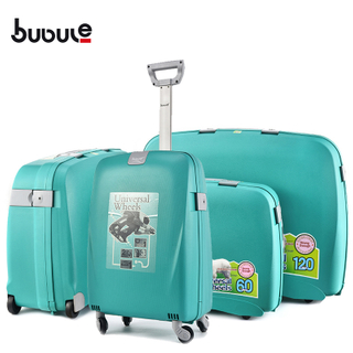 BUBULE 4PCS Cheap PP Travel Trolley Luggage Sets Spinner Wheeled Suitcases