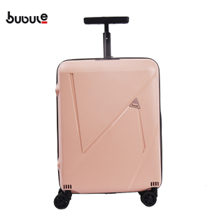 BUBULE 3PCS PP Hard Case Luggage Set Full Lining Travel Zipper Trolley Bag Suitcase