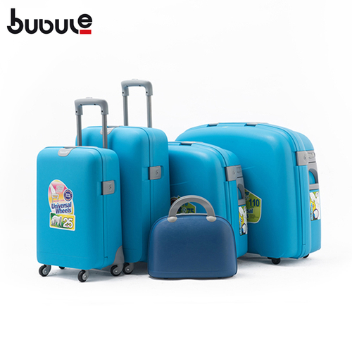 BUBULE Hot Sale PP 5pcs Trolley Luggage Set Spinner Wheeled Suitcases